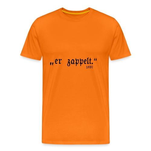 Er zappelt Logo - Männer Premium T-Shirt
