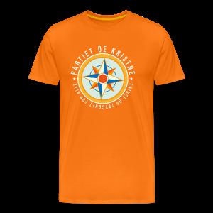 Logo. På oransje - Premium T-skjorte for menn