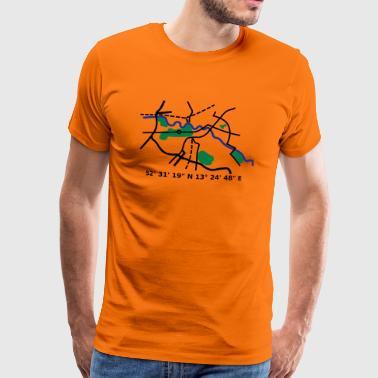 Berlin city map - Männer Premium T-Shirt