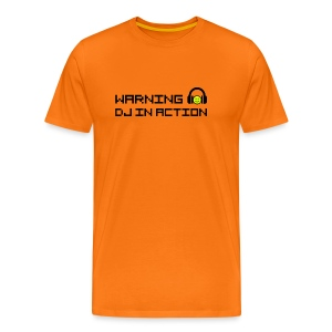 Warning DJ in Action - Mannen Premium T-shirt