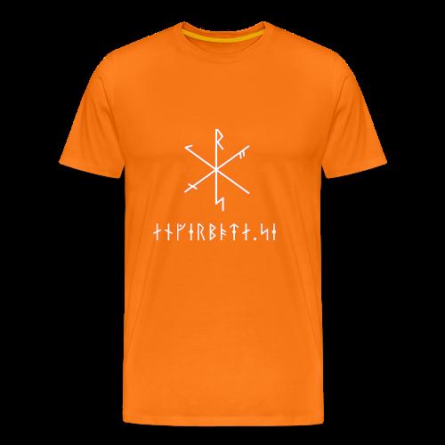 Angerboda logo med bindruna - Premium-T-shirt herr