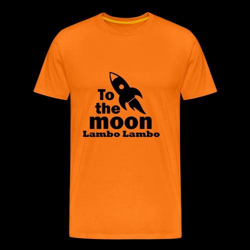 to the moon lambo - Männer Premium T-Shirt