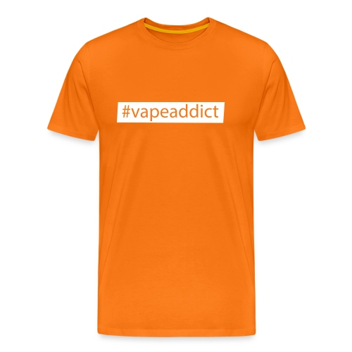 Vapeaddict - Hashtag-Logo für Dampfer - Männer Premium T-Shirt