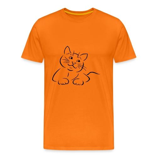 Katze / Kätzchen 0002 - Männer Premium T-Shirt