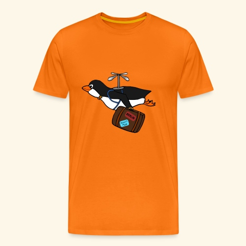 Pinguin Migrieren Berlin Vogel Fliegen Urlaub - Männer Premium T-Shirt