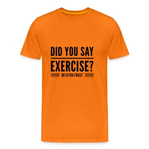 fitness quote funny t-shirt - Mannen Premium T-shirt