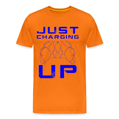 Just Charging Up by JuiceMan Benji Gaming - Men's Premium T-Shirt