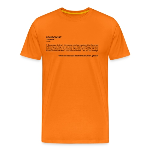 Conscivist Definition - Men's Premium T-Shirt