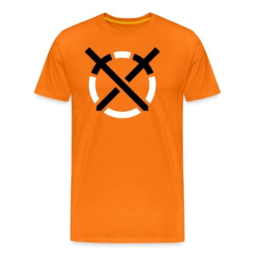Símbolo «Arte do Combate» sobre amarelo - Camiseta premium hombre