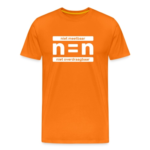 T-shirt n=n campagne - Mannen Premium T-shirt