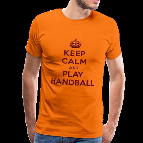KEEP CALM AND PLAY HANDBALL - T-shirt Premium Homme