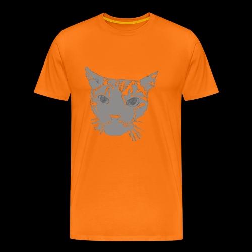 Katzenkopf grau - Männer Premium T-Shirt