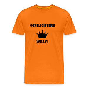 Gefelicteerd Willy - Mannen Premium T-shirt