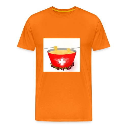Einzigartiges Schweizer Fondue T-Shirt - Männer Premium T-Shirt