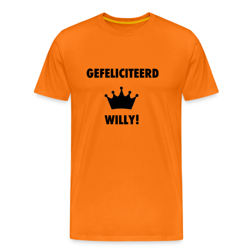 Gefelicteerd Willy - Mannen Premium T-shirt