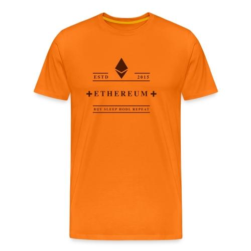 Ethereum Buy Sleep Hodl Repeat - Männer Premium T-Shirt