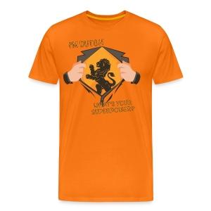 I'm Dutch, what's your superpower? - Mannen Premium T-shirt