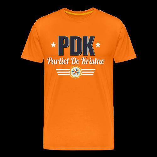PDK på oransje - Premium T-skjorte for menn