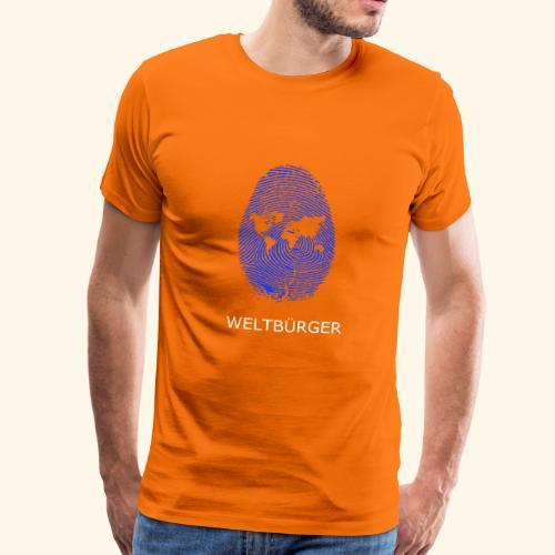 Fingerabdruck Weltbürger - Männer Premium T-Shirt
