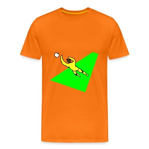 portiere giallo 2 sfondo - Maglietta Premium da uomo