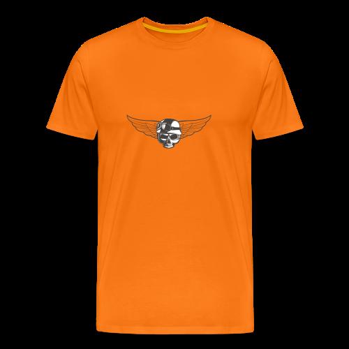 Biker skull - Men's Premium T-Shirt