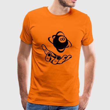 Pool åpen hånd hånd åpen ball1 - Premium T-skjorte for menn