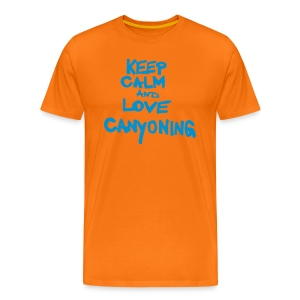 keep calm and love canyoning - Männer Premium T-Shirt