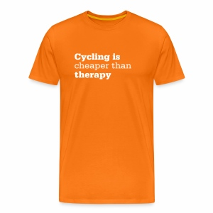 Cycling is therapy - Männer Premium T-Shirt