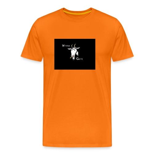 witte geit - Mannen Premium T-shirt