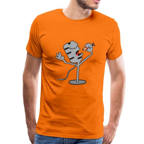 Microfono condensador gracioso (music) - Camiseta premium hombre