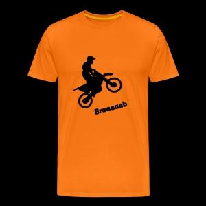 Motorrad im Wheelie - Männer Premium T-Shirt