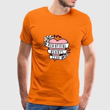 PIĘKNE HEARTS CLUB - Koszulka męska Premium