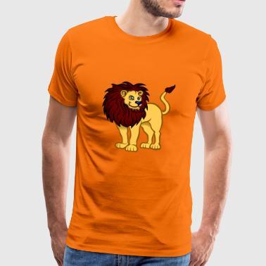 La crinière de Monsieur lion - T-shirt Premium Homme