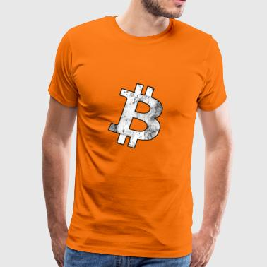 Bitcoin Solo W Grunge - Männer Premium T-Shirt
