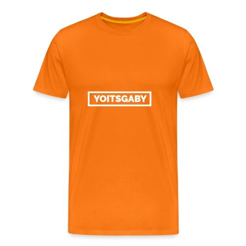 YoIsGaby T-Shirt Wit // man - Mannen Premium T-shirt