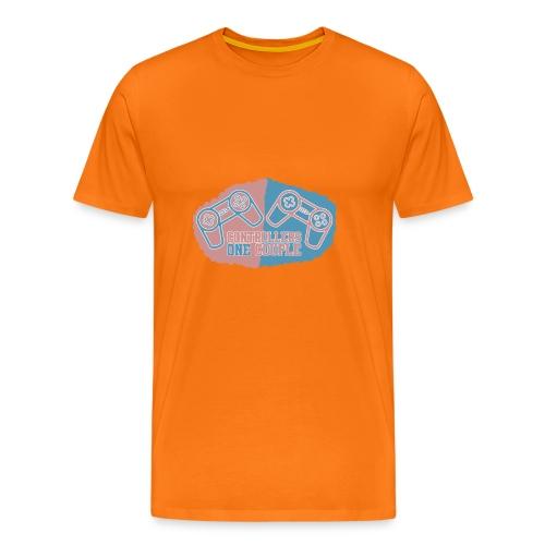 Musemåtte TwoControllersOneCouple - Herre premium T-shirt