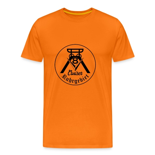V8-Cruiser Logo schwarz - Männer Premium T-Shirt