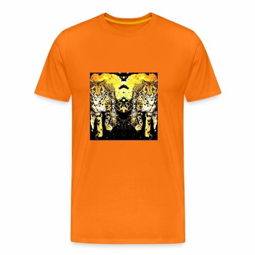 Karo Style Tiger - Männer Premium T-Shirt