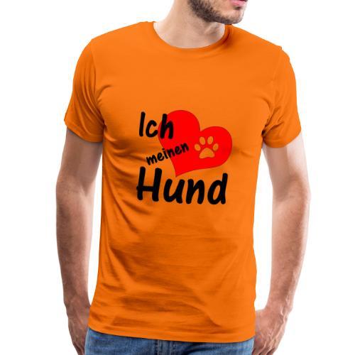 Ich liebe meinen Hund / schwarz - Männer Premium T-Shirt