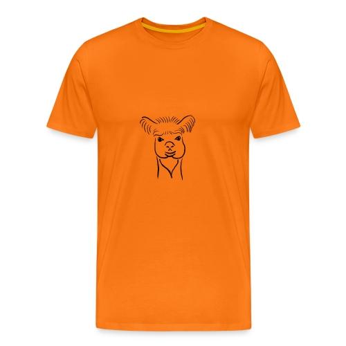 Lama Comic Zeichnung Design - Männer Premium T-Shirt
