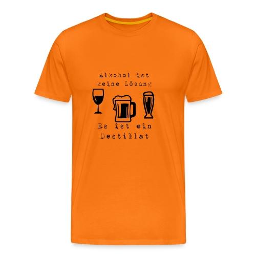 Alkohol ist keine Lösung - Männer Premium T-Shirt