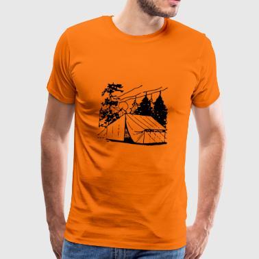 obóz camper scout namiot tipi kochen102 - Koszulka męska Premium