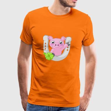 cochon comique du bonheur - T-shirt Premium Homme