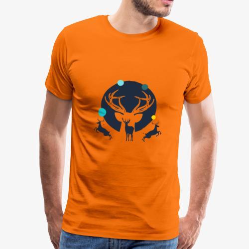 Wanderhirsch - Männer Premium T-Shirt