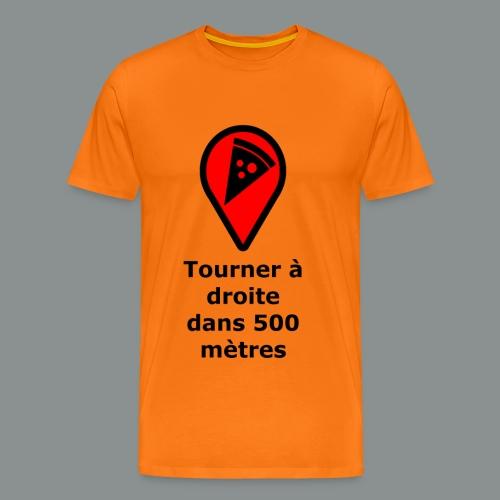 T-shirt Geek pizza - T-shirt Premium Homme