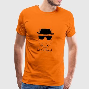 Unicorn Walter biały pozwala gotować - Koszulka męska Premium