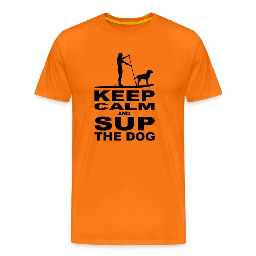 KEEP CALM and SUP the DOG - women - black - Männer Premium T-Shirt