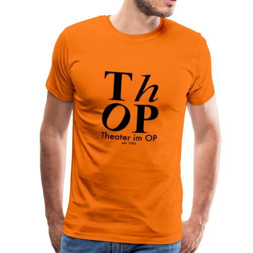 Grosses Logo SCHWARZ - Männer Premium T-Shirt
