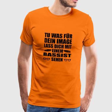 DEIN IMAGE SEHEN MEISTER GESCHENK BASSIST png - Männer Premium T-Shirt
