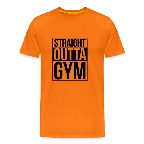 Straight Outta Gym Design. - Men's Premium T-Shirt